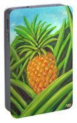 Pineapple Painting #332 Portable Battery Charger