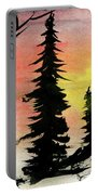 Pines In Rocks Portable Battery Charger