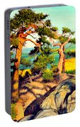 Pines On The Rocks Portable Battery Charger