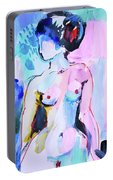 Pink Abstract Nude Portable Battery Charger