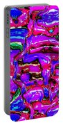 Pink Abstract Portable Battery Charger