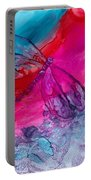 Pink And Blue Dragonflies Portable Battery Charger