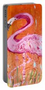 Pink And Orange Flamingo  Portable Battery Charger
