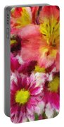 Pink And Orange Portable Battery Charger