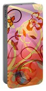 Pink And Purple Flower Medley Portable Battery Charger
