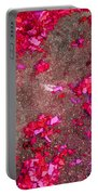 Pink And Red Firecracker Debris Abstract Portable Battery Charger