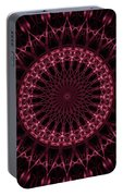 Pink And Red Glowing Mandala Portable Battery Charger