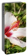 Pink And Red Hibiscus Portable Battery Charger