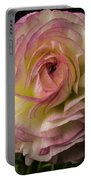 Pink And White Ranunculus Portable Battery Charger