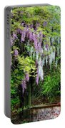 Pink And White Wisterias Portable Battery Charger
