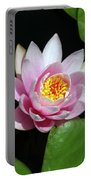 Pink And Yellow Lotus Waterlily Portable Battery Charger