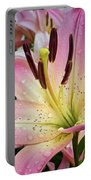 Pink And Yellow Mountain Lily Portable Battery Charger