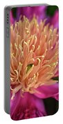 Pink And Yellow Peony Portable Battery Charger