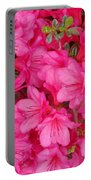 Pink Azalea Blooms Portable Battery Charger