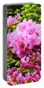 Pink Azalea Flowers Landscape 11 Art Prints Canvas Artwork Framed Art Cards Portable Battery Charger