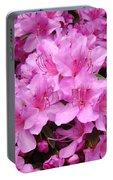 Pink Azaleas Summer Garden 6 Azalea Flowers Giclee Art Prints Baslee Troutman Portable Battery Charger
