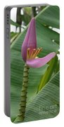 Pink Banana Flower Portable Battery Charger