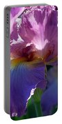 Pink Bearded Iris Photograph Portable Battery Charger