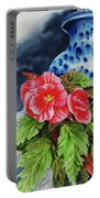 Pink Begonias Portable Battery Charger