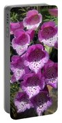 Pink Bell Flowers, Close-up. Foxglove 02 Portable Battery Charger