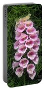 Pink Bell Flowers. Foxglove 01 Portable Battery Charger
