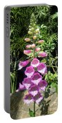 Pink Bell Flowers. Foxglove 03 Portable Battery Charger