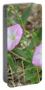 Pink Bindweed Portable Battery Charger
