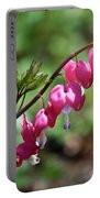 Pink Bleeding Hearts 1 Portable Battery Charger