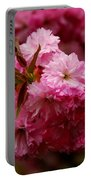Pink Blooms Portable Battery Charger