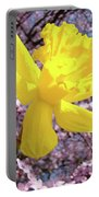 Pink Blossom Spring Trees Yellow Daffodil Flower Baslee Troutman Portable Battery Charger