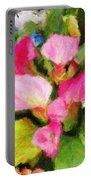 Pink Calla Lilly Portable Battery Charger
