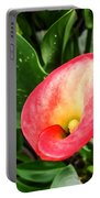 Pink Calla Lily Portable Battery Charger