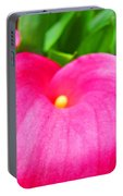 Pink Calla Lily Macro Flower Art Print Lilies Baslee Troutman Portable Battery Charger