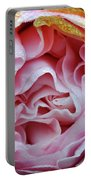Pink Camellia Bud Portable Battery Charger