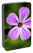 Pink Campion Portable Battery Charger