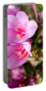 Pink Cardinal Bush Flowers Portable Battery Charger