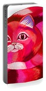 Pink Cat 2 Portable Battery Charger