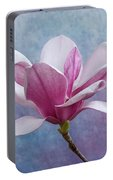 Pink Chinese Magnolia Flower Portable Battery Charger
