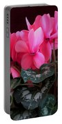 Pink Cyclamen 1 Portable Battery Charger