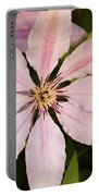 Pink Clematis  Portable Battery Charger
