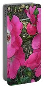 Pink Climbing Roses - Digitally Enhanced Portable Battery Charger