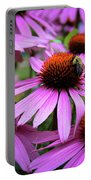 Pink Coneflowers Portable Battery Charger