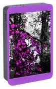 Pink Crape Myrtles Abstract Portable Battery Charger