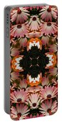 Pink Daisies Kaleidoscope Portable Battery Charger