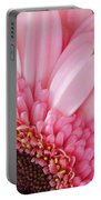 Pink Daisy Close-up Portable Battery Charger
