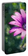 Pink Daisy Portable Battery Charger