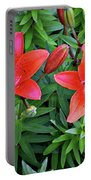 Pink Daylilies Portable Battery Charger