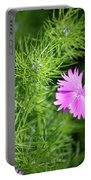 Pink Dianthus With Nigella Buds Portable Battery Charger