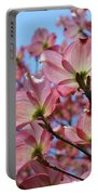 Pink Dogwood Flowers Landscape 11 Blue Sky Botanical Artwork Baslee Troutman Portable Battery Charger