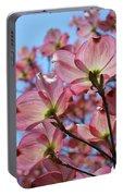 Pink Dogwood Flowers Landscape 11 Blue Sky Botanical Artwork Baslee Troutman Portable Battery Charger